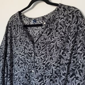 OLD NAVY 2X Plus Floral Tunic Top